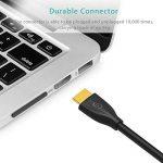 Cable HDMI 2.0 Syncwire - 3M Cordon HDMI 4K Ultra HD Haut Débit 18Gbps Compatible avec Fire TV, Apple TV, Ethernet, Arc, Video 4K UHD 2160p, HD 1080p, 3D, Xbox, Playstation, PS3, PS4, PC - Noir de la marque Syncwire image 3 produit