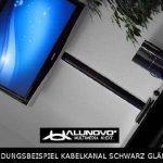 Canal design pour câble aluminium en Noir ultra brillant (Piano laqué) - Longueur: 40cm - ALUNOVO Multimedia N:ext de la marque ALUNOVO image 3 produit