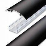 Canal design pour câbles, noir mat, de très haute qualité - Longueur: 30cm - ALUNOVO de la marque ALUNOVO image 1 produit