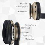 Casque Bluetooth sans Fil sur L'oreille, JIUHUFH Wireless Ecouteur con Mic, Doux Cache – Oreilles de Mémoire – Protéine pour Android, iPhone, Tablet (Or) de la marque JIUHUFH image 3 produit
