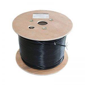 Câble CAT 6solide Polyéthylène 20m Tambour Noir 100% cuivre données réseau Ethernet de la marque Data Zone image 0 produit