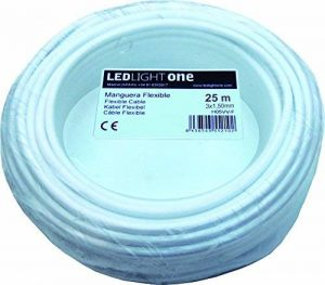 Câble H05VV-F Tuyau 3x 1,5mm 25m (Blanc) de la marque Led Light One image 0 produit