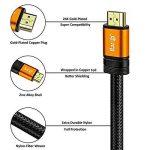 Câble HDMI 2.0 - Ultra HD 4K@60Hz 2160p - Professionnel - 3D TV - Full HD 1080p - Audio Return Channel (ARC) - Signal Vidéo Haute performance avec Ethernet - Connecteurs plaqués or - 1.5M IBRA Orange Gold de la marque IBRA® image 1 produit