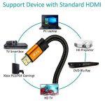 Câble HDMI 2.0 - Ultra HD 4K@60Hz 2160p - Professionnel - 3D TV - Full HD 1080p - Audio Return Channel (ARC) - Signal Vidéo Haute performance avec Ethernet - Connecteurs plaqués or - 1.5M IBRA Orange Gold de la marque IBRA® image 2 produit
