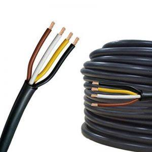 Câble multiconducteur pour l'automobile/remorque 5m, 10m, 20m ou 50m choix: (5m mètre, 4 fils: 4 x 1.5 mm² câble cylindrique) de la marque AUPROTEC® Automotive Wires image 0 produit