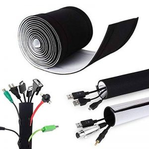 Câble Rangement du Néoprène, Mopalwin DIY Flexible Câble Organisateur Masquer Cache câbles et Protecteur de câbles pour Câble TV Audio USB ou Ordianteur, 3M de la marque Mopalwin image 0 produit