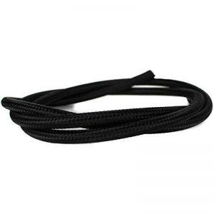Câble textile pour lampe | rond | Lot de trois fils–3x 0,75mm² | Noir | mètres de câble AM | Grande flexibilité, noir de la marque Unicorn Displays image 0 produit