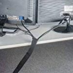 Câble tressé Câble canal exeta 3m Flexible Neopren Canal de câble avec Velcro pour TV gestion des câbles audio Cache d'ordinateur, organisé, et protège Câble–Noir (300x 13.5cm) de la marque Exeta image 2 produit