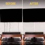 Câble TV Anti-cernes Cord Coque Raceway kit–5canaux–Système de gestion pour cacher les câbles, fils ou câbles–Organiser vos Câbles pour fixation murale téléviseurs à écran plat de la marque SimpleCord image 2 produit