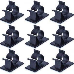 Câbles Adhésifs Réglable Clips de Câble Nylon Porte Fil de Serrage, Noir, 50 Pack de la marque eBoot image 0 produit