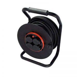 Chacon 89304 Dérouleur avec prise fixe 4 x 16 A 40 m HO7RN-F 3 x 2,5 mm Tambour Noir de la marque CHACON image 0 produit