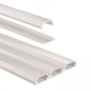 Chemin de câble en PVC, rectangulaire, 100/2,1/1,0 cm, blanc, 3 pièces de la marque Hama image 0 produit