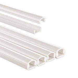 Chemin de câble en PVC, semi-circulaire, 100/1,1/1,0 cm, blanc, 4 pièces de la marque Hama image 0 produit