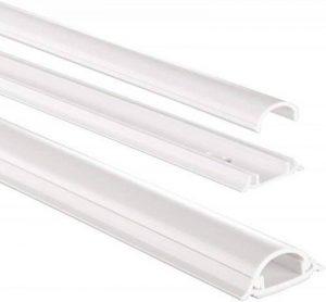 Chemin de câble en PVC, semi-circulaire, 100/3,5/0,9 cm, blanc de la marque Hama image 0 produit