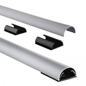 Chemin de câbles en aluminiun, semi-circulaire, 110/3,3/1,8 cm, argenté de la marque Hama image 0 produit