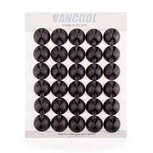Clips de câble de 30 pièces avec 3M auto-adhésif, câble et organe électrique de la marque VANCOOL image 0 produit