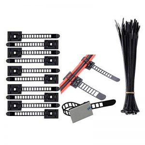 Clips pour cable (100 Pièces),Nylon Zip Ties (100 Pièces) attache cables réglables clips cable adhesif attaches-cable fixation cable de la marque Eiito image 0 produit