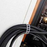 Clips pour cable (blanc), 20 Pièces attache cables réglables clips cable adhesif attaches cable fixation cable de la marque Eiito image 1 produit