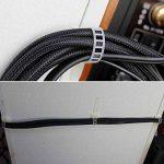 Clips pour cable,Nylon Zip Ties attache cables réglables clips cable adhesif attaches-cable fixation cable (100 Pièces Blanc, blanc Clips) de la marque Eiito image 2 produit