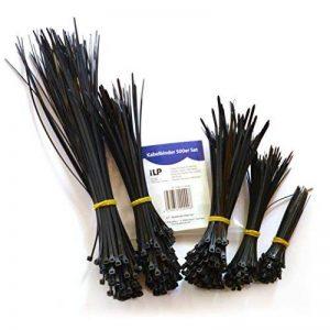 Colliers de serrage iLP – kit de 500 - 100x100/150/180/200/300mm chacun – colliers de serrage multi-usages pour maintenir en place les câbles et fils, de manière sûre et permanente – résistants aux UV de la marque iLP image 0 produit