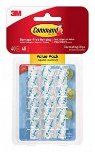 Command 17026CLR-VP Clips décoratifs avec bandes adhésives Transparent Pack économique de la marque Command image 0 produit