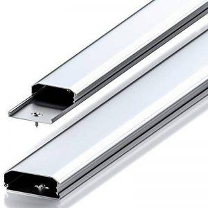 Conduit de câble deleyCON Universal mécanisme à clapet innovant aluminium de grande qualité longueur 100 cm , largeur 6 cm , hauteur 2 cm - argent de la marque deleyCON image 0 produit