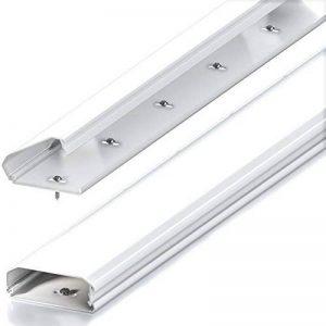 Conduit de câble deleyCON Universal mécanisme à clapet innovant aluminium de grande qualité longueur 100 cm , largeur 6 cm , hauteur 2 cm - blanc de la marque deleyCON image 0 produit