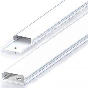 Conduit de câble goulotte de distribution deleyCON Universal câblage facile de câbles et fils PVC de grande qualité longueur 100 cm, largeur 6 cm, hauteur 2 cm - blanc de la marque deleyCON image 0 produit