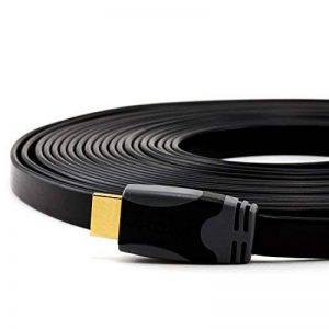 CSL - Câble HDMI High-End 1.4a Ultra Plat 10 m (mètres) avec Ethernet (réseau) | Full HD (1080p - 2160p) et Compatible 3D de la marque CSL-Computer image 0 produit