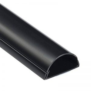 D-Line 50x25mm Moulure Décorative en Demi-Cercle | 1M5025B | Goulotte Électrique | Cache-Câble | 1m Longeur, Noir de la marque D-Line image 0 produit