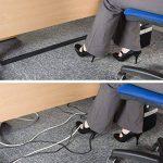 D-Line Bande Pour Câbles   CGS3B   Tenir les Câbles en Place Sous le Bureau et Autour du Périmètre des Pièces   Range-câbles   Noir, 3m longeur de la marque D-Line image 1 produit