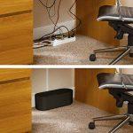 D-Line Boîte de Rangement pour Câbles | EU/CTULGEB/SW | Boîte Cache-Câble | Garder les Câbles Bien Rangés | Noir, Grande Boîte de la marque D-Line image 2 produit