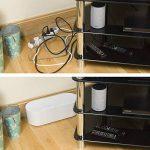 D-Line Boîte de Rangement pour Câbles |EU/CTULGEW/SW | Boîte Cache-Câble | Garder les Câbles Bien Rangés |Blanc, Grande Boîte de la marque D-Line image 3 produit