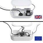 D-Line Boîte de Rangement pour Câbles |EU/CTUSMLW/SW| Boîte Cache-Câble | Garder les Câbles Bien Rangés | Blanc, Petite Boîte de la marque D-Line image 1 produit