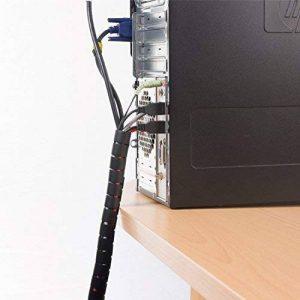 D-Line Gaine Pour Câble avec Outil Fileté|CZ202.5B| Organiser les Câbles | Longeur 2,5m, Diamètre 20mm, Noir de la marque D-Line image 0 produit