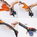D-Line Gaine Pour Câble avec Outil Fileté|CZ202.5B| Organiser les Câbles | Longeur 2,5m, Diamètre 20mm, Noir de la marque D-Line image 2 produit