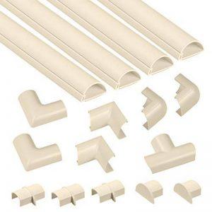 D-Line Kits de Goulottes | 3015KIT003 | Cachez et Protégez les Câbles Facilement | Goulotte Décorative | Couleur Crème de la marque D-Line image 0 produit