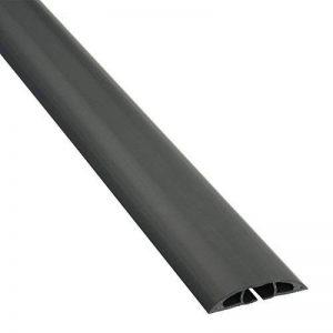D-Line Passe Câble Sol D'usage Léger|CC-1/9M| Cachez et Protégez les Câbles et Évitez les Risques | 60mm x 12mm, longeur 9m, Noir de la marque D-Line image 0 produit