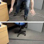 D-Line Passe Câble Sol D'usage Léger|CC-1/9M| Cachez et Protégez les Câbles et Évitez les Risques | 60mm x 12mm, longeur 9m, Noir de la marque D-Line image 2 produit