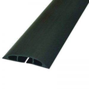 D-Line Passe Câble Sol D'usage Léger| CC-1 | Cachez et Protégez les Câbles et Évitez les Risques | 60mm x 12mm, longeur 1,8m, Noir de la marque D-Line image 0 produit