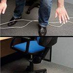 D-Line Passe Câble Sol D'usage Léger| CC-1 | Cachez et Protégez les Câbles et Évitez les Risques | 60mm x 12mm, longeur 1,8m, Noir de la marque D-Line image 4 produit