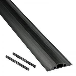 D-Line Passe Câble Sol Souple |FC68B| Passage Plancher Souple | Goulotte de Sol | Prévient les Accidents au Travail | Liégeable | Cavité du Câble 14x9mm, Longeur 1,8m de la marque D-Line image 0 produit
