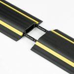 D-Line Passe Câble Sol Souple |FC83H/9M| Passage Plancher Souple | Goulotte de Sol | Prévient les Accidents au Travail | Liégeable | Cavité du Câble 30x10mm, Longeur 9m de la marque D-Line image 2 produit