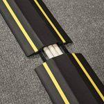 D-Line Passe Câble Sol Souple |FC83H| Passage Plancher Souple | Goulotte de Sol | Prévient les Accidents au Travail | Liégeable | Cavité du Câble 30x10mm, Longeur 1,8m de la marque D-Line image 1 produit
