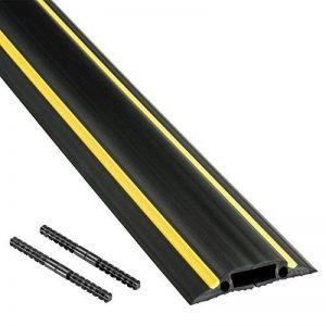 D-Line Passe Câble Sol Souple |FC83H| Passage Plancher Souple | Goulotte de Sol | Prévient les Accidents au Travail | Liégeable | Cavité du Câble 30x10mm, Longeur 1,8m de la marque D-Line image 0 produit
