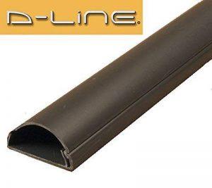 D-Line R5ft3015b Longueur de 1.5metre (1,5m) en 1pièce 30x 15Fil de câble liens Coque pour cacher les câbles–Noir de la marque D-Line image 0 produit