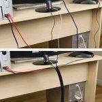 D-Line Tube de Rangement de Câble   CTT1.1/25B Cache-Câble  Câbles Électriques, TV   1.1m Longeur, 25mm Diamètre, Noir de la marque D-Line image 1 produit