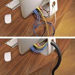 D-Line Tube de Rangement de Câble |CTT1.1B| Cache - Câble| Câbles Électriques, TV | 1.1m Longeur, 32mm Diamètre, Noir de la marque D-Line image 1 produit