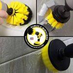 Drillbrush Tout usage salle de bains Surfaces douche, baignoire et carreaux d'alimentation Scrubber Kit de nettoyage Brosse tout usage moyen jaune de la marque Drillbrush image 4 produit