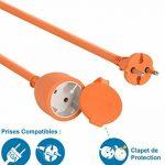 Electraline 20857039F Rallonge Prolongateur Jardín 50 mt avec clapet - section 2x1,5 mm² orange de la marque Electraline image 1 produit